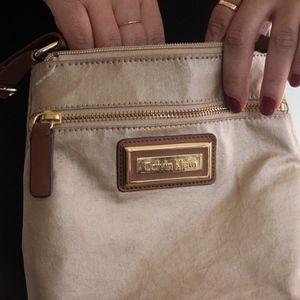 Gold Calvin Klein Crossbody purse